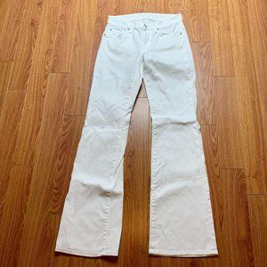 7 For All Mankind White Kimmie Bootcut Jeans 27